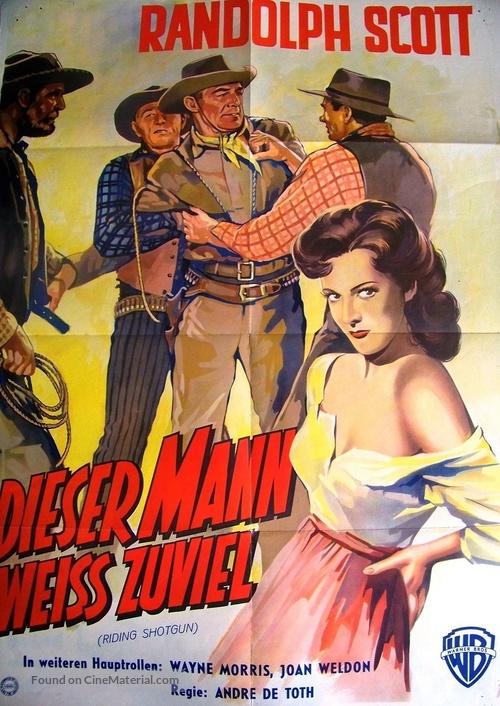 Riding Shotgun - German Movie Poster