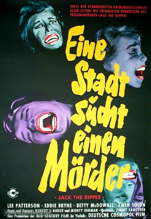Jack the Ripper - German Movie Poster
