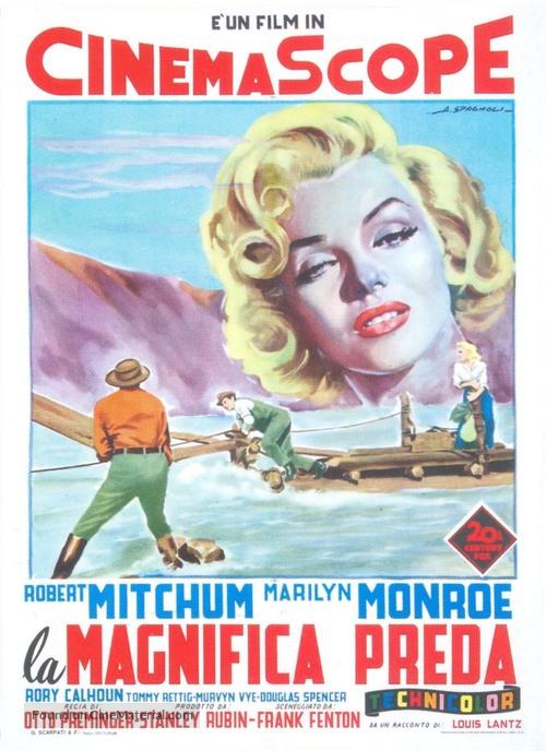 River of No Return - Italian Movie Poster