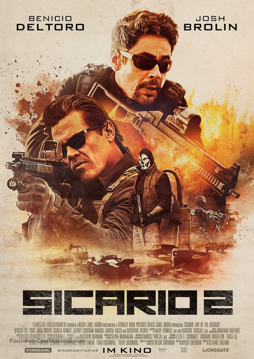 Sicario: Day of the Soldado - German Movie Poster
