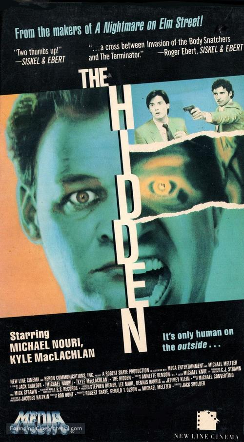 The Hidden - VHS movie cover