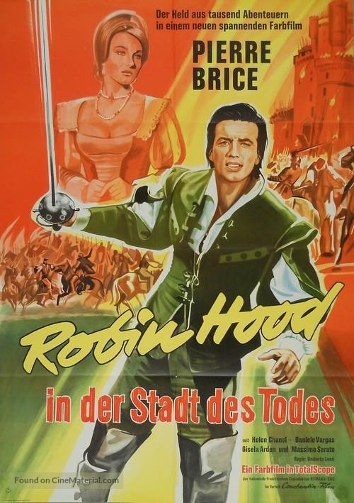 L'invincibile cavaliere mascherato - German Movie Poster