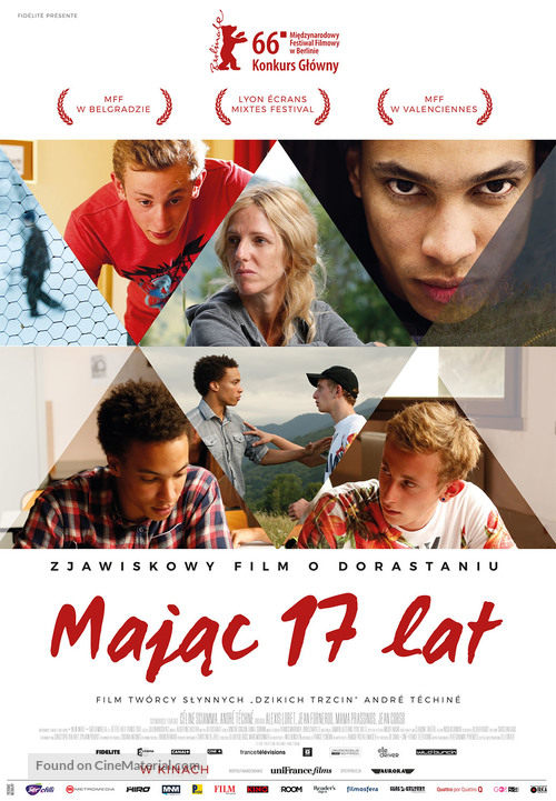 Quand on a 17 ans - Polish Movie Poster