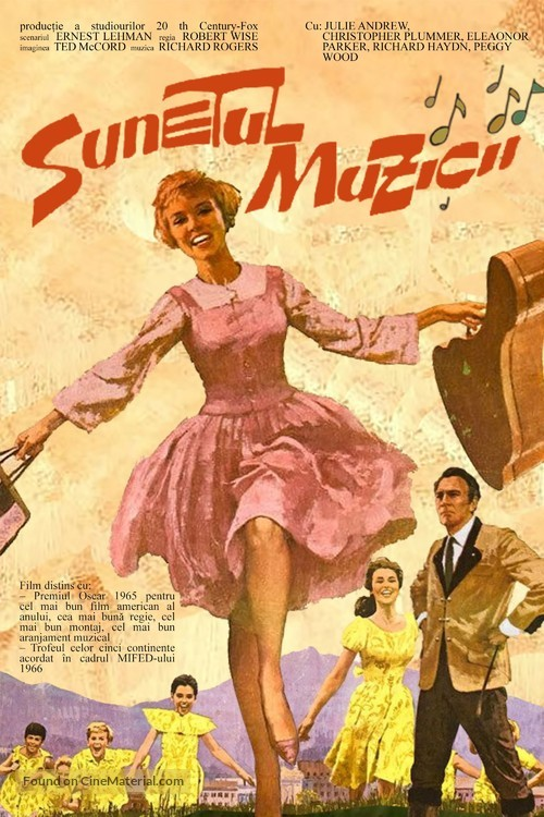 The Sound of Music - Romanian Movie Poster