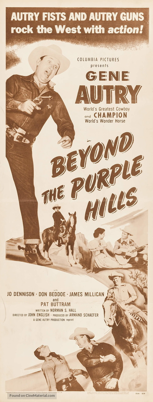 Beyond the Purple Hills - Re-release movie poster