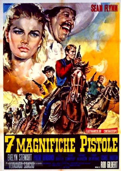 7 magnifiche pistole - Italian Movie Poster