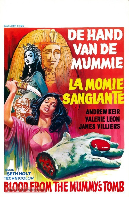 Blood from the Mummy's Tomb - Belgian Movie Poster