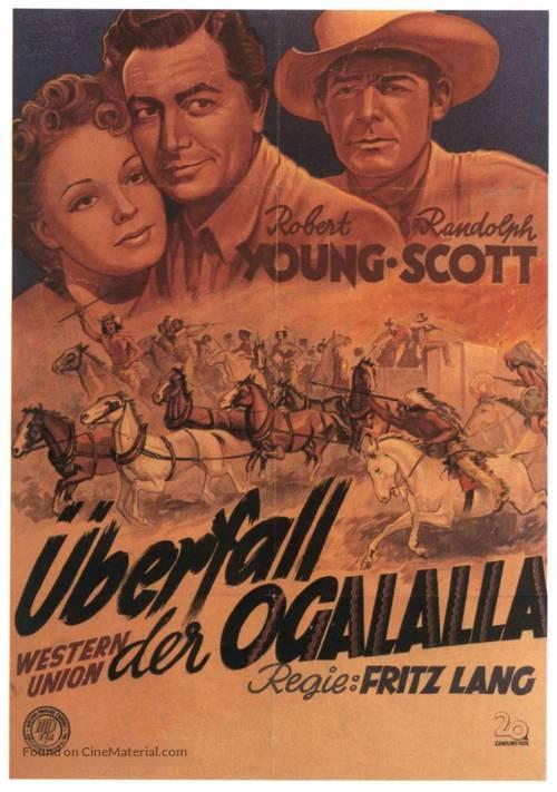 Western Union - German Movie Poster