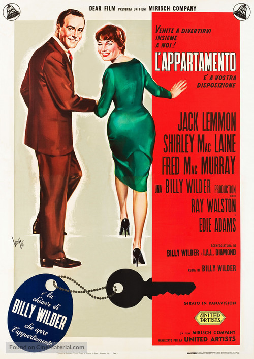 The Apartment Italian Theatrical Poster