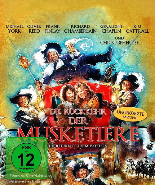 The Return of the Musketeers - German Movie Cover