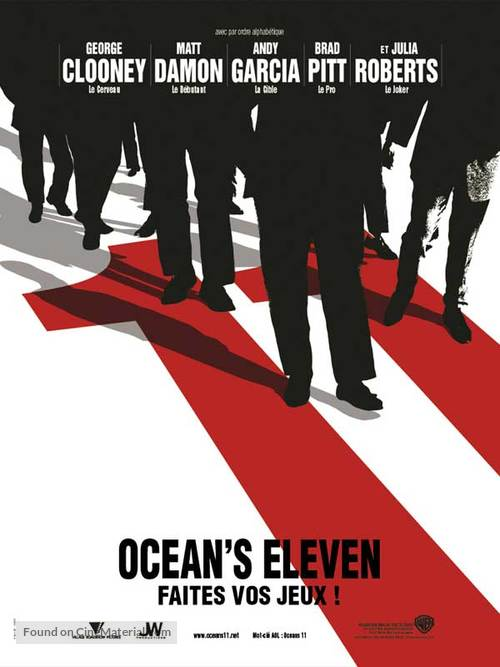 Ocean's Eleven - French Teaser movie poster