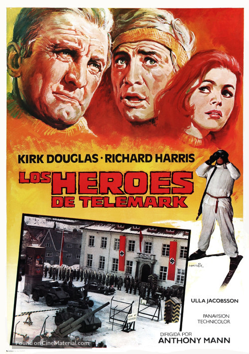The Heroes of Telemark - Spanish Movie Poster