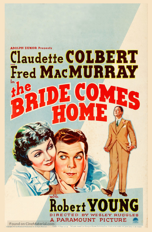 The Bride Comes Home - Movie Poster