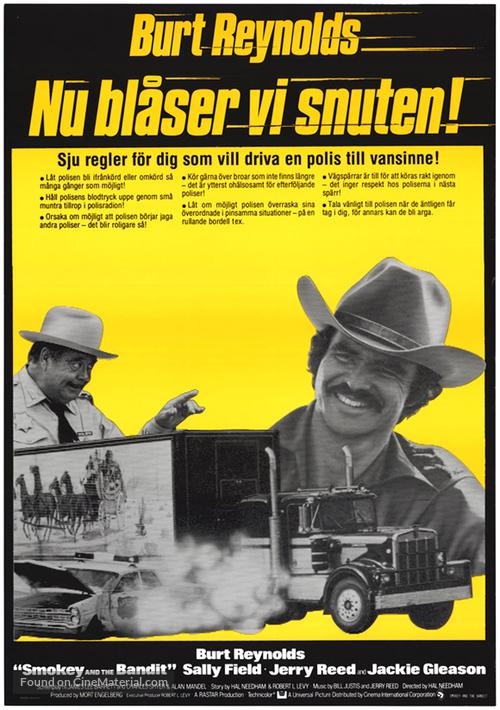 Smokey and the Bandit - Swedish Movie Poster