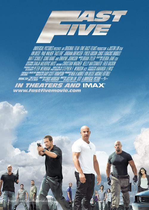 Fast Five - British Movie Poster