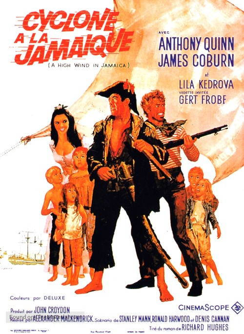 A High Wind in Jamaica - French Movie Poster