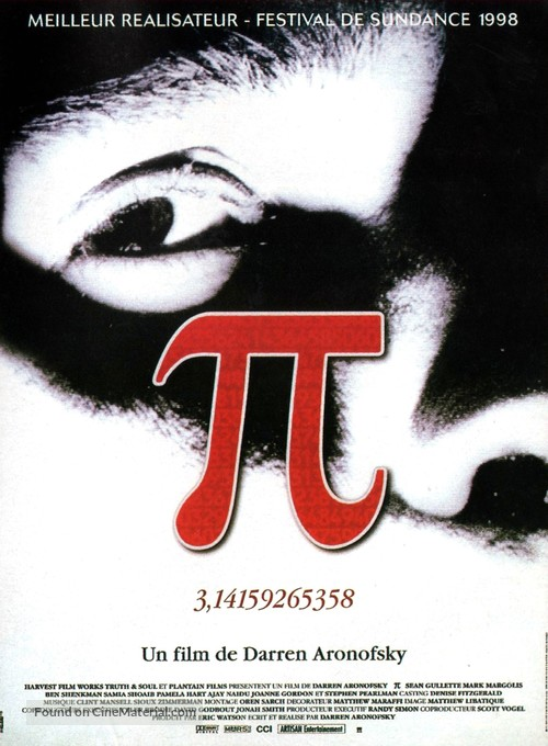 Pi - French Movie Poster