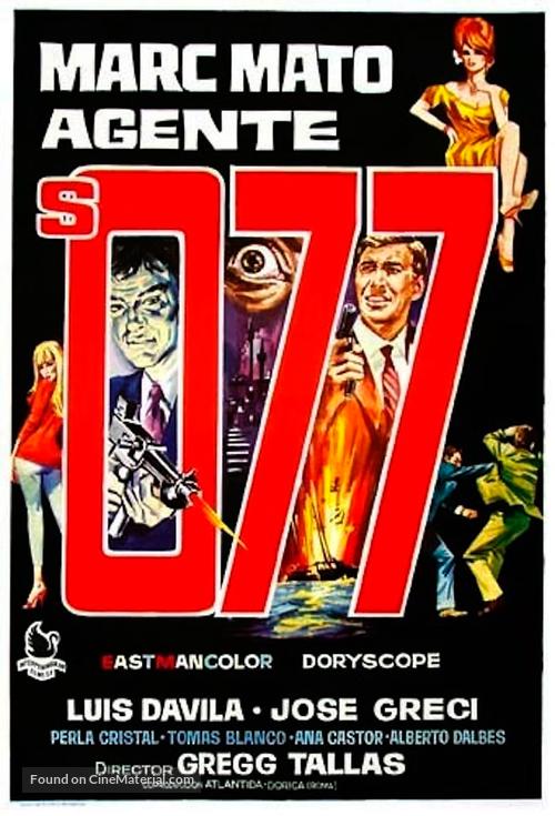 Marc Mato, agente S. 077 - Spanish Movie Poster