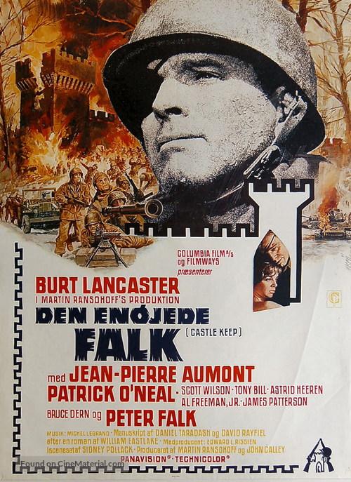 Castle Keep - Danish Movie Poster