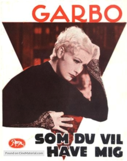 As You Desire Me - Danish Movie Poster