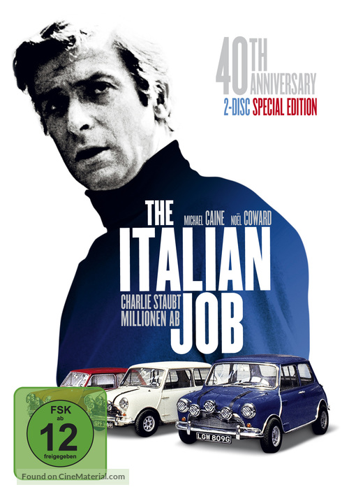 The Italian Job - German DVD movie cover