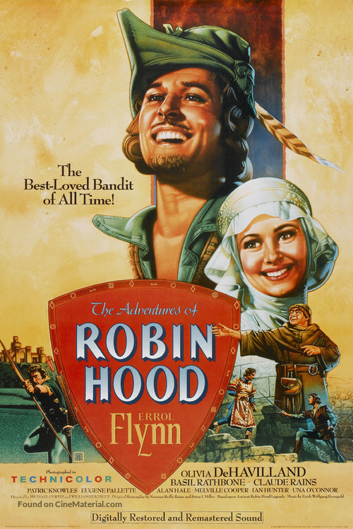 The Adventures of Robin Hood - Re-release movie poster