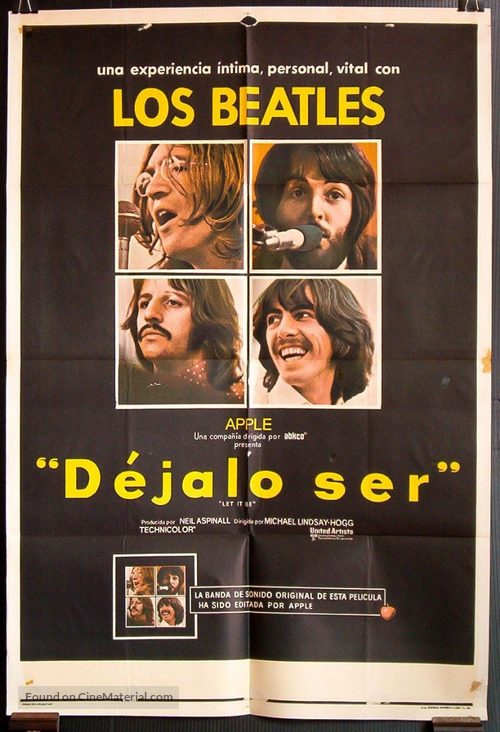 Let It Be - Argentinian Movie Poster