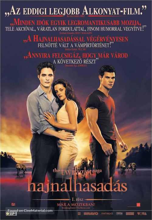 The Twilight Saga: Breaking Dawn - Part 1 - Hungarian Movie Poster