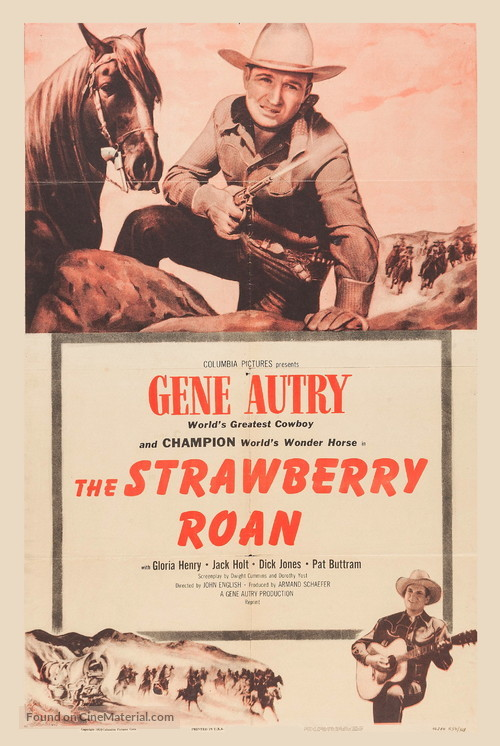 The Strawberry Roan - Re-release movie poster