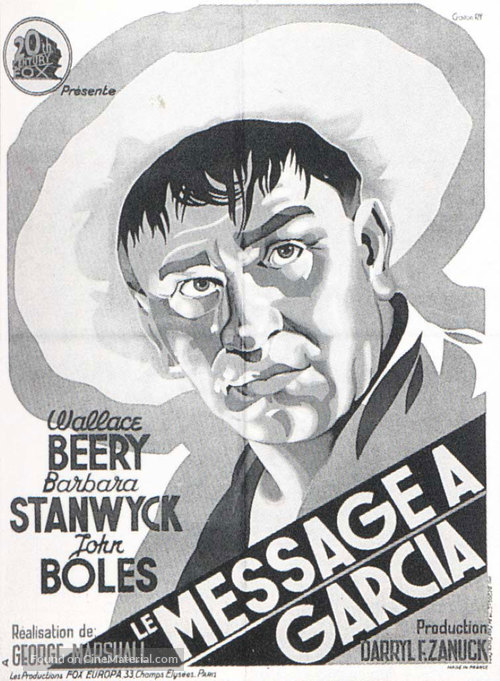 A Message to Garcia - French Movie Poster