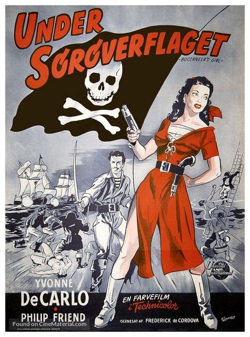 Buccaneer's Girl - Danish Movie Poster