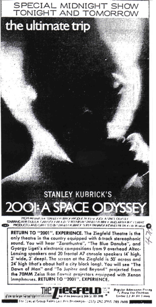 2001: A Space Odyssey - poster