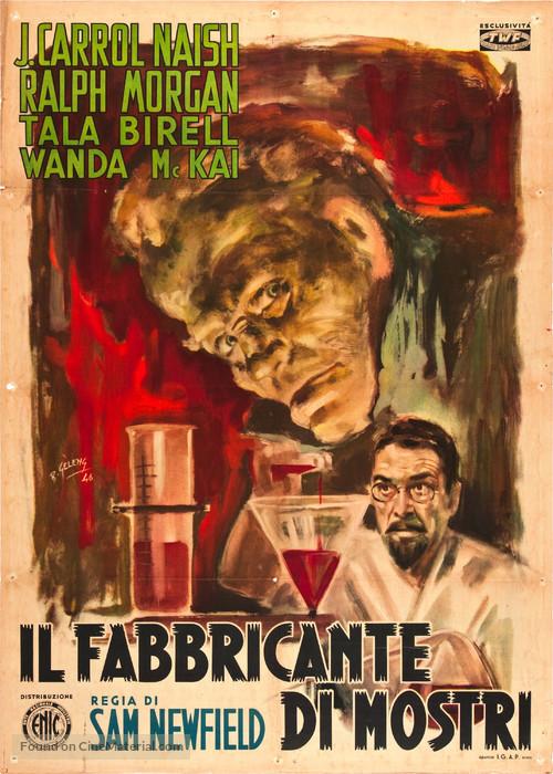 The Monster Maker - Italian Movie Poster