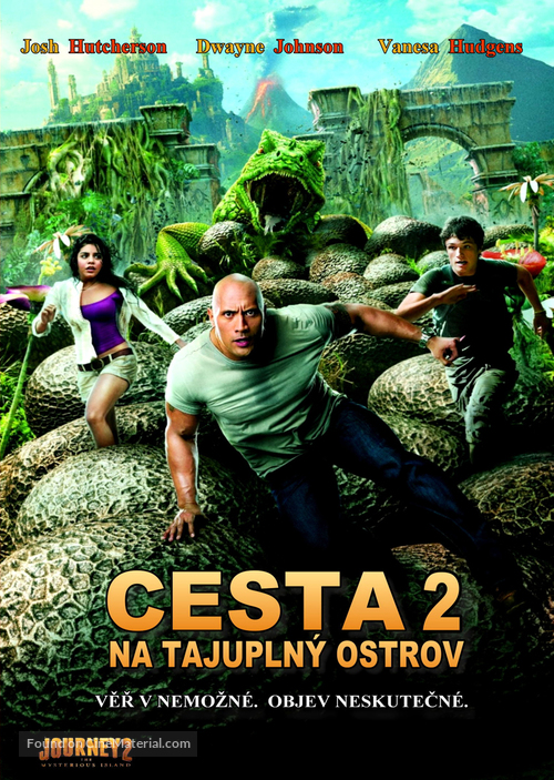 Journey 2: The Mysterious Island - Czech DVD movie cover