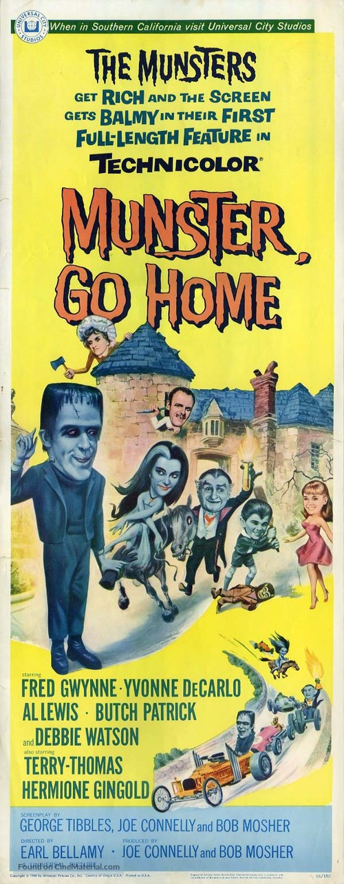 Munster, Go Home - Movie Poster