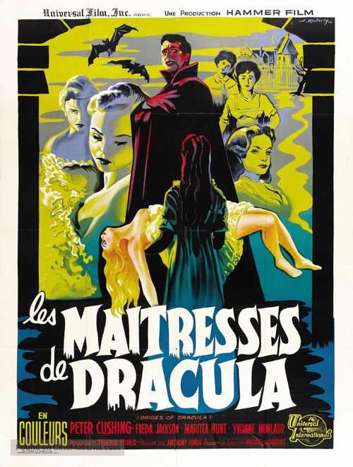 The Brides of Dracula - French Movie Poster