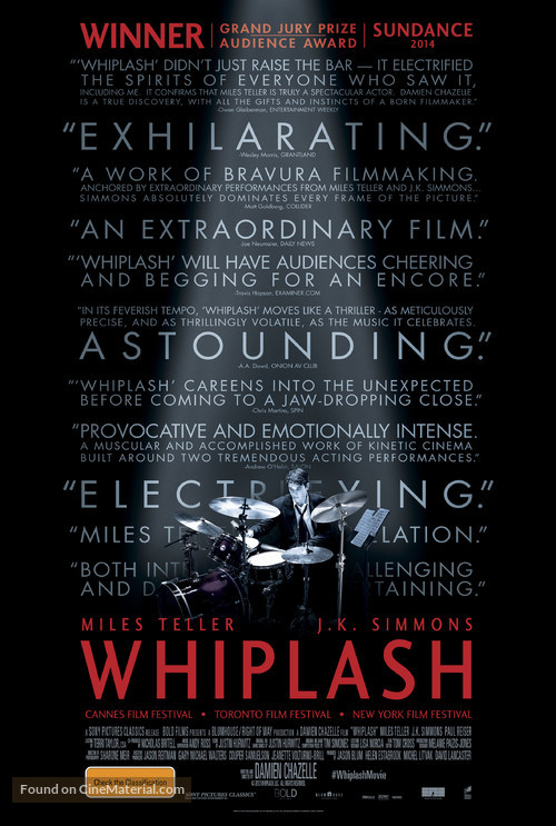 Whiplash - Australian Movie Poster