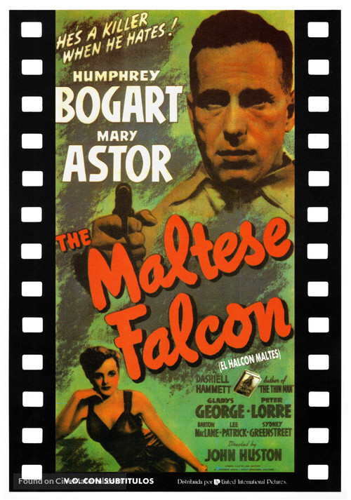 The Maltese Falcon - Spanish Movie Poster