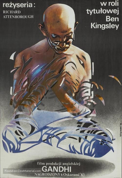 Gandhi - Polish Movie Poster