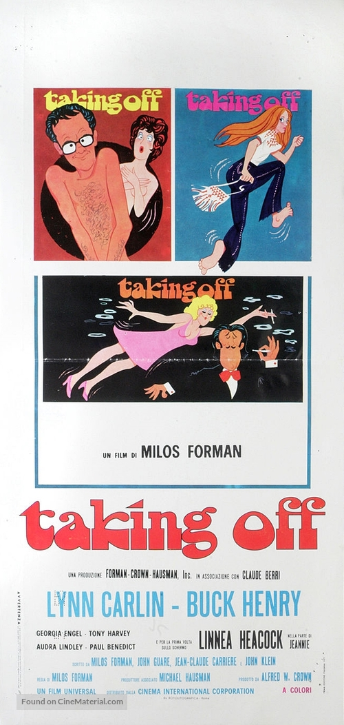 Taking Off - Italian Movie Poster