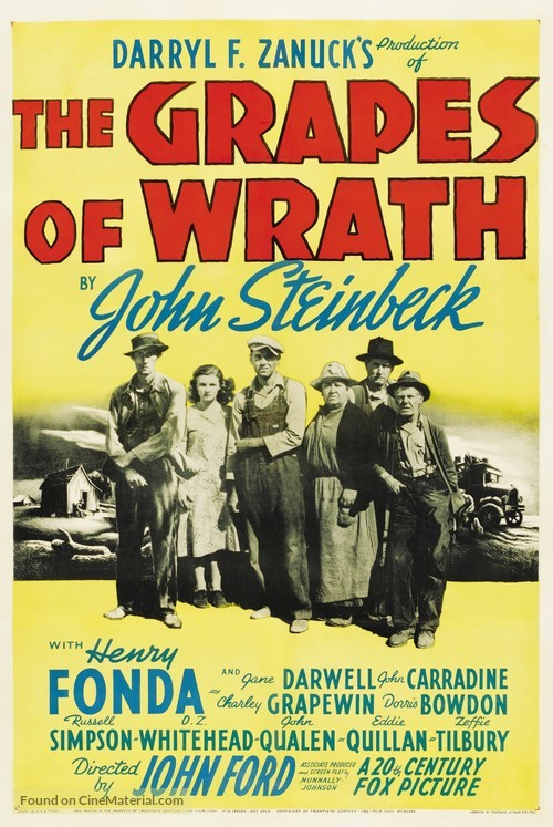 The Grapes of Wrath - Theatrical poster