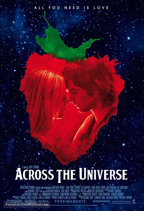 Across the Universe - Spanish poster