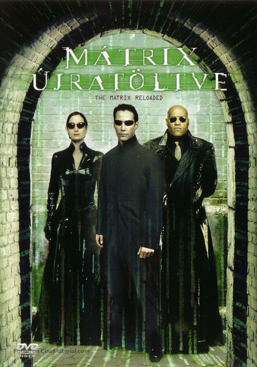 The Matrix Reloaded - Hungarian DVD movie cover