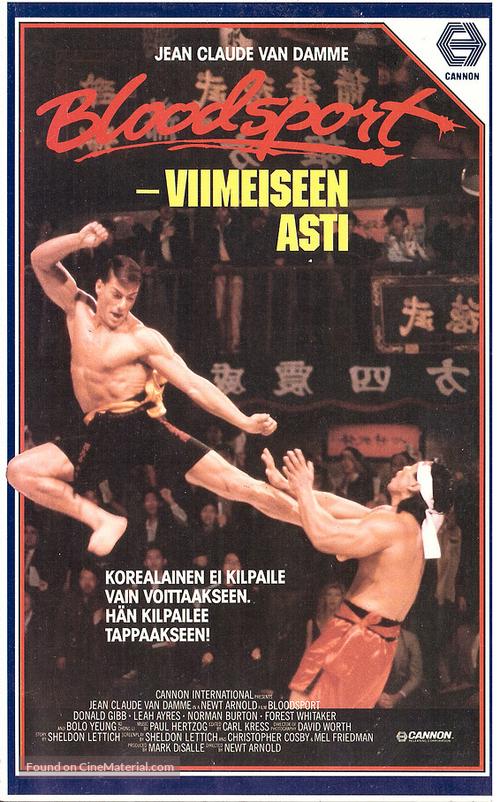 Bloodsport - Finnish VHS movie cover