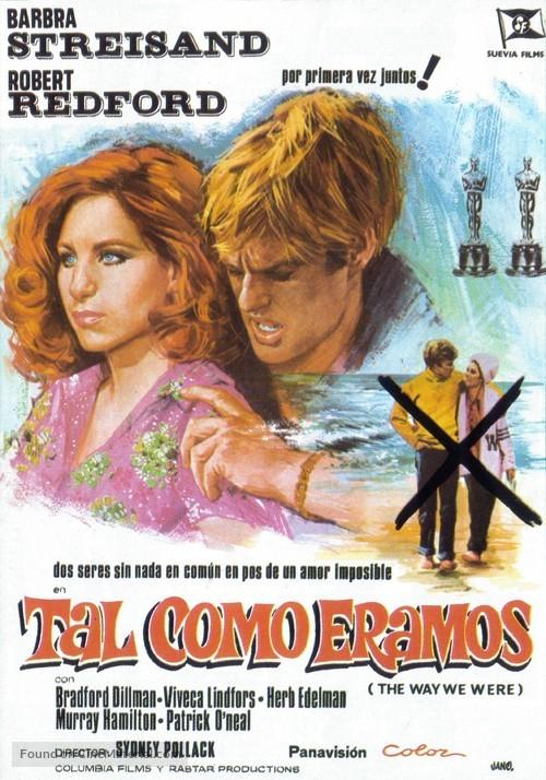 The Way We Were - Spanish Movie Poster