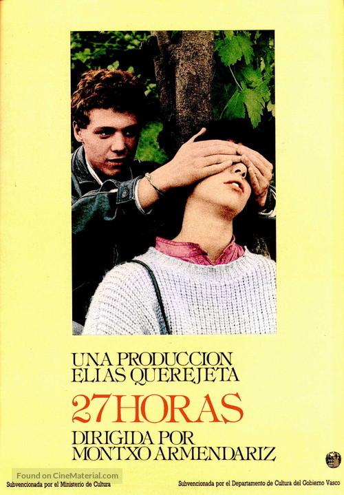 27 horas - Spanish Movie Poster