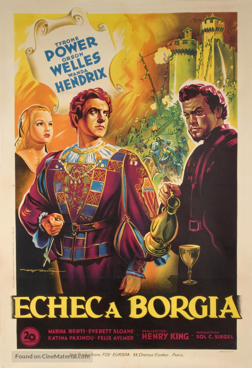 Prince of Foxes - French Movie Poster