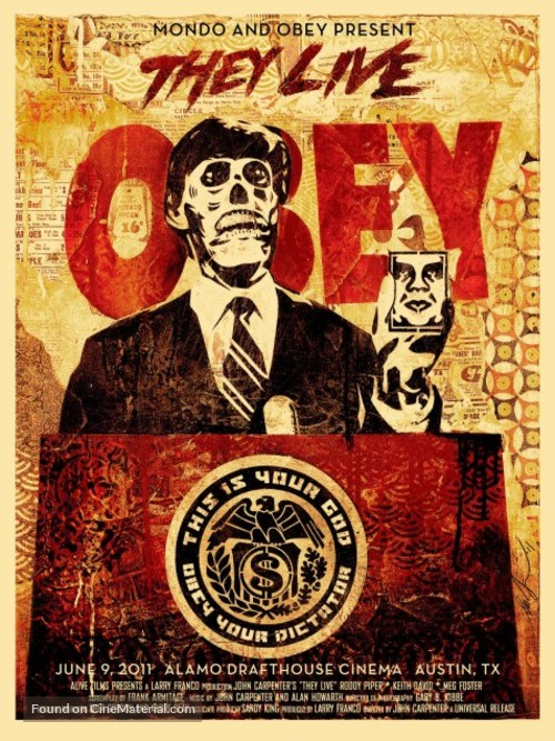 They Live - Homage movie poster