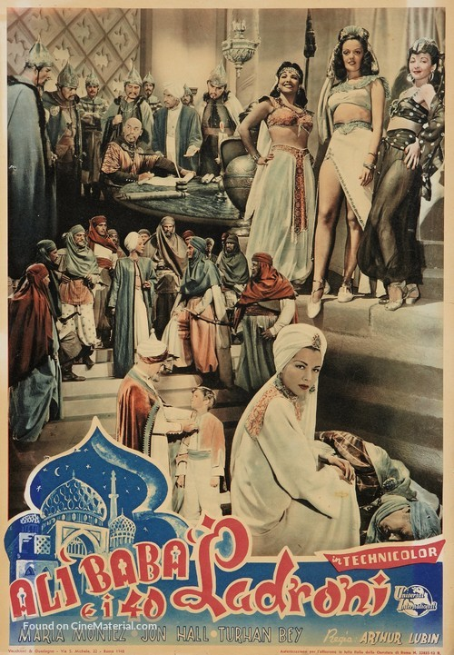 Ali Baba and the Forty Thieves - Italian Movie Poster