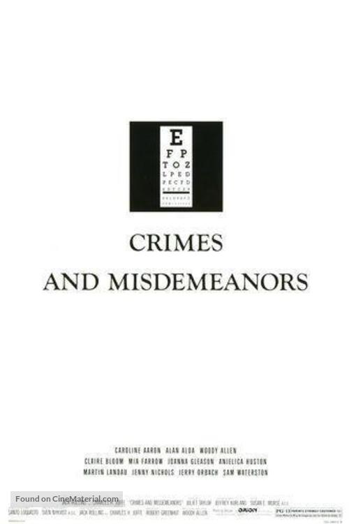 Crimes and Misdemeanors - Movie Poster